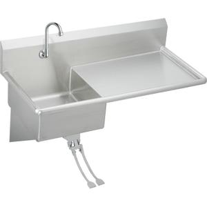 "Elkay Stainless Steel 49-1/2"" x 24"" x 10, Wall Hung Service Sink Kit Product Image"