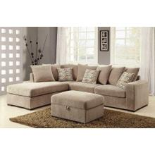 See Details - Olson Taupe Storage Ottoman