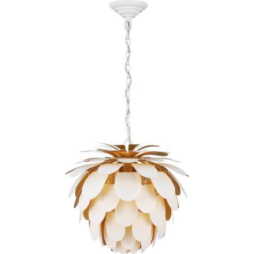 - E. F. Chapman Cynara 1 Light 17 inch White with Gild Chandelier Ceiling Light, Small