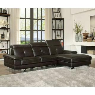 ACME Aeryn Sectional Sofa - 52045 - Espresso PU