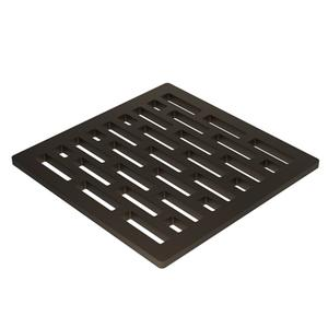 """Weathered Brass 4"""" Square Shower Drain"""