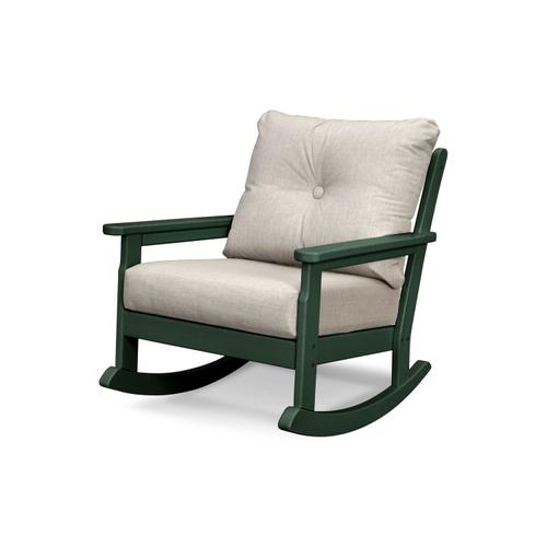 Green & Cast Ash Vineyard Deep Seating Rocking Chair