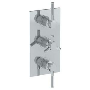 """Wall Mounted Thermostatic Shower Trim With 2 Built-in Controls, 6 1/4"""" X 12"""" Product Image"""