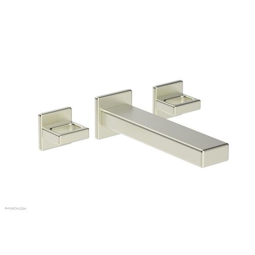 MIX Wall Lavatory Set - Ring Handles 290-13 - Satin Nickel