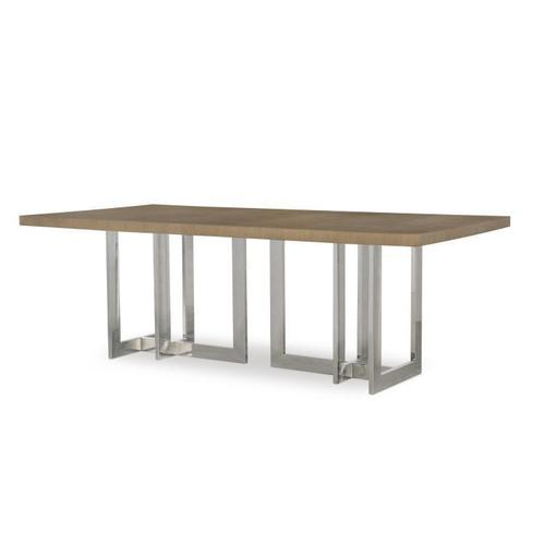 Product Image - Milan Oak Dining Table With Metal Base