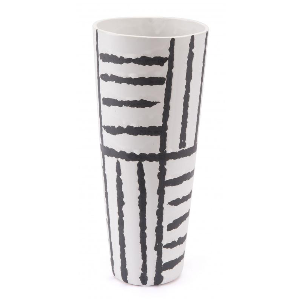 Small Croma Vase Black & White