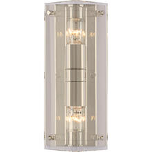 View Product - AERIN Clayton 2 Light 6 inch Crystal and Polished Nickel Wall Sconce Wall Light in Crystal with Polished Nickel