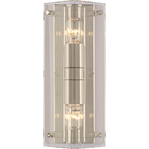 Visual Comfort - AERIN Clayton 2 Light 6 inch Crystal and Polished Nickel Wall Sconce Wall Light in Crystal with Polished Nickel