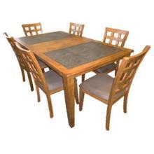 See Details - Tile Top Solid Hardwood Dining Set