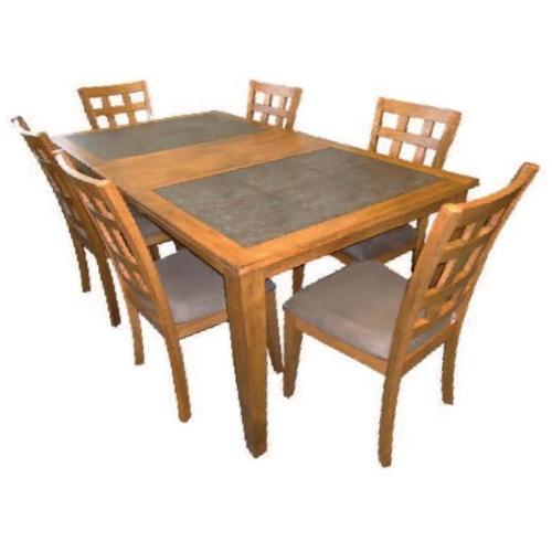 Tile Top Solid Hardwood Dining Set