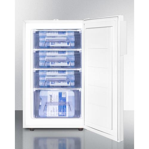 """ADA Compliant 20"""" Wide All-freezer With High Temperature Alarm, Lock, and Hospital Grade Cord"""