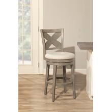 Sunhill Wood Swivel Counter Stool, Weathered Gray