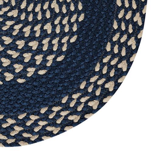 LM-Navy Classic Poly Braid Navy Braided Rugs