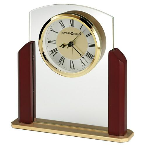 Howard Miller Winfield Elegant Glass Alarm & Table Clock 645790