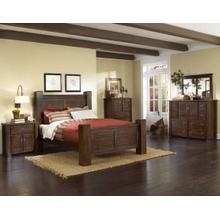 View Product - King Post Bed - Mesquite Pine Finish Sold as a Group with two night stands. #P611