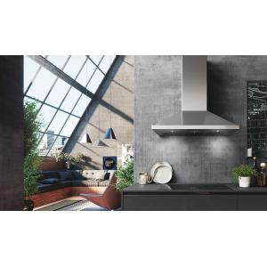"""Faber30"""" pyramid shape wall hood with Variable Air Management"""