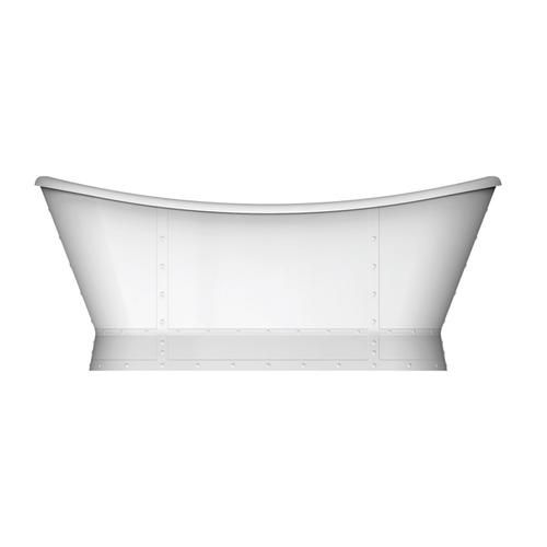 """Milan 66"""" Acrylic Double Slipper Tub - Polished Chrome Drain and Overflow"""