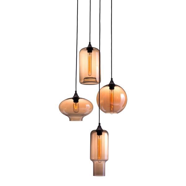 See Details - Lambie Ceiling Lamp Rust & Amber