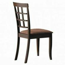 ACME Cardiff Side Chair (Set-2) - 06851 - Espresso & Dark Brown Microfiber