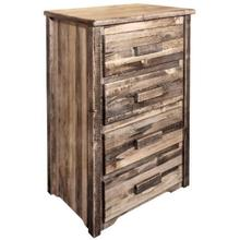 View Product - Homestead Collection 4 Drawer Chest of Drawers, Stain and Lacquer Finish