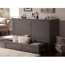 See Details - Madison Murphy Bed Chest Queen Atlantic Grey with Charging Station