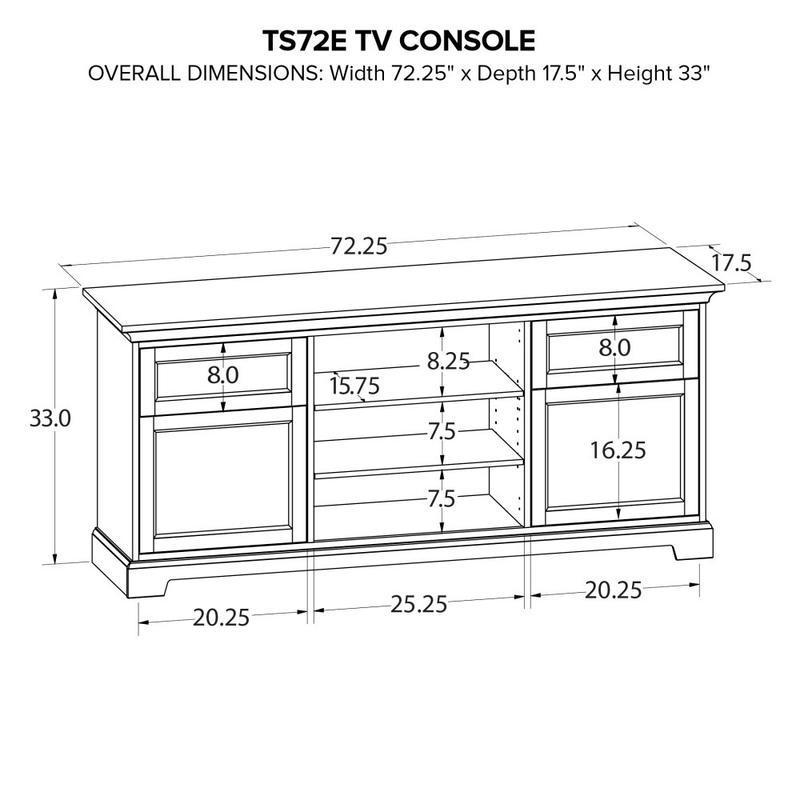 Howard Miller Custom TV Console TS72E
