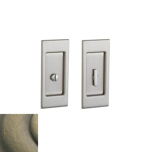 Baldwin - Satin Brass and Black PD006 Small Santa Monica Pocket Door