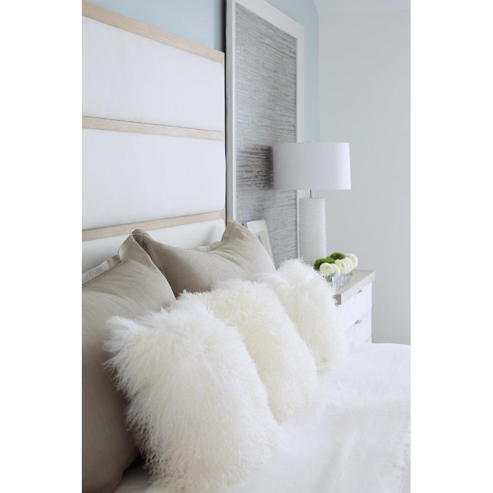 King Axiom Upholstered Panel Bed in Linear Gray (381)