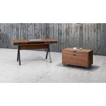 View Product - Modica 6347 Mobile File Pedestal in Natural Walnut