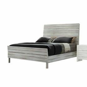 ACME Shayla Eastern King Bed - 23967EK - Antique White