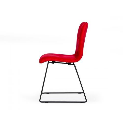 VIG Furniture - Modrest Yannis - Modern Red Fabric Dining Chair (Set of 2)