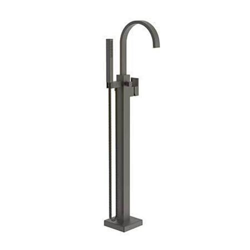 Weathered Brass Exposed Tub and Hand Shower Set - Free Standing