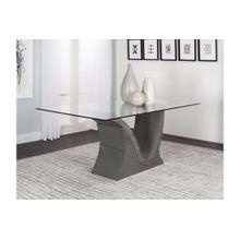 Wave-charcoal Table Base