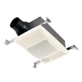 Broan® 100 CFM Heater/Ventilation Fan/Light, 1500W Heater, 100W Incandescent Light, 2.0 Sones