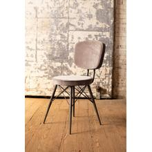 See Details - velvet dining chair with iron frame \ cobblestone