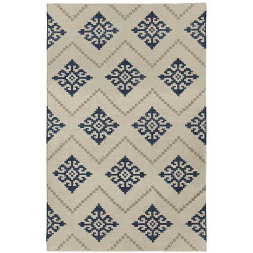Sno Bokrum Blue Flat Woven Rugs