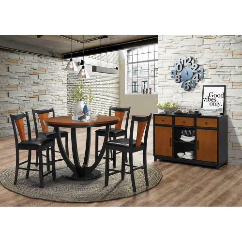 Product Image - Boyer Transitional Amber and Black Side Chair