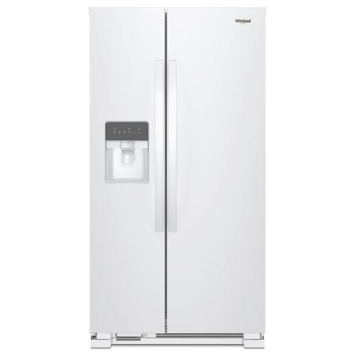 Whirlpool - 36-inch Wide Side-by-Side Refrigerator - 24 cu. ft. White