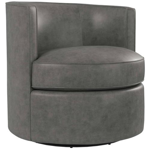 Fleur Leather Swivel Chair