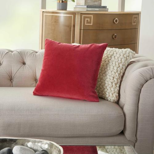 """Life Styles Ss900 Red 16"""" X 16"""" Throw Pillow"""