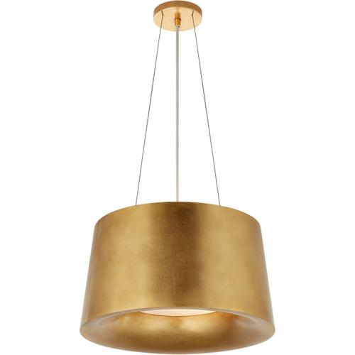 Barbara Barry Halo 2 Light 19 inch Gild Hanging Shade Ceiling Light, Small