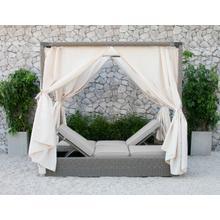 See Details - Renava Marin Outdoor Beige Canopy Sunbed