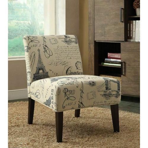 ACME Reece Accent Chair - 96225 - Fabric & Espresso