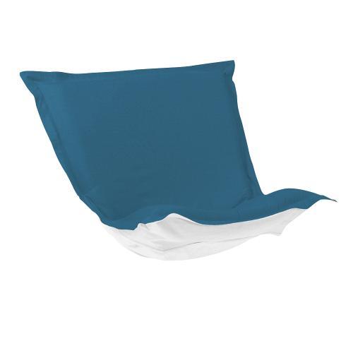 Puff Chair Cushion Seascape Turquoise Cushion and Cover