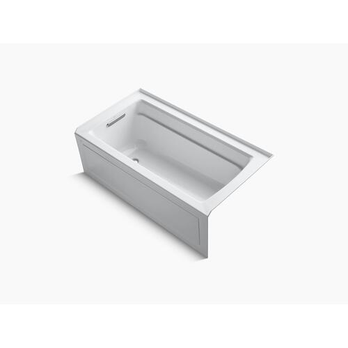 "Thunder Grey 60"" X 32"" Alcove Bath With Bask Heated Surface, Integral Apron, Integral Flange, and Left-hand Drain"