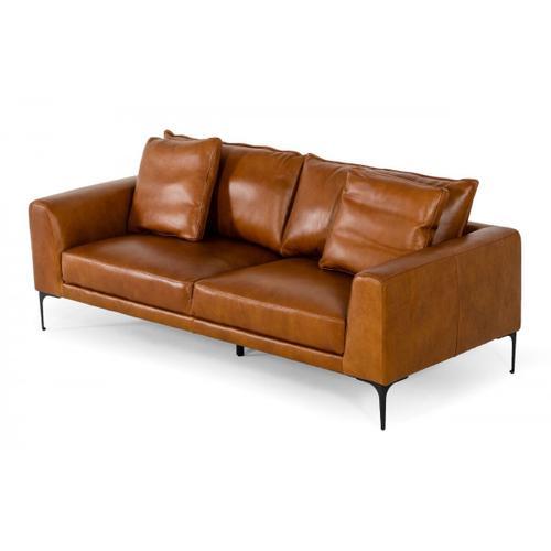 VIG Furniture - Divani Casa Jacoba - Modern Camel Leather Sofa