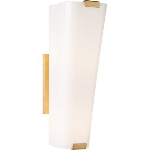 AERIN Alpine 2 Light 5 inch Hand-Rubbed Antique Brass Single Sconce Wall Light