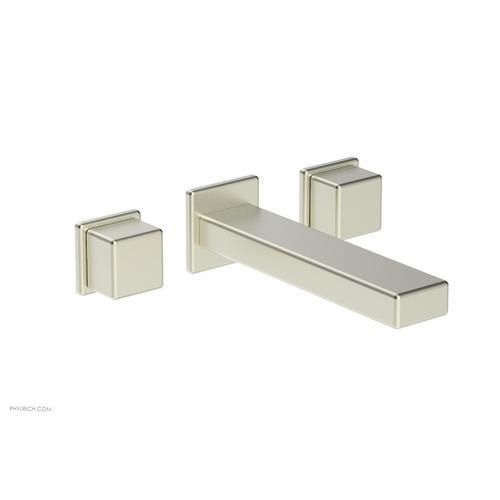 MIX Wall Lavatory Set - Cube Handles 290-14 - Satin Nickel