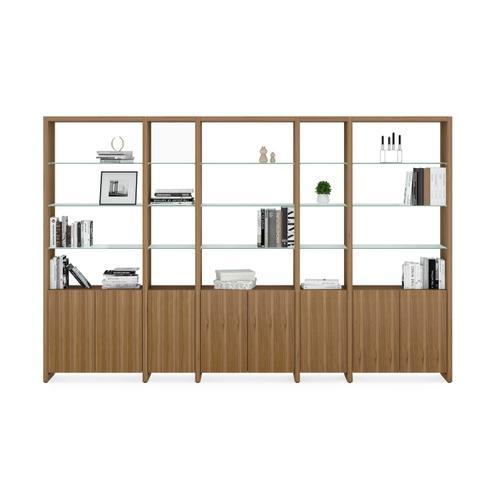 BDI Furniture - Linea 5802 Double Shelf in Natural Walnut