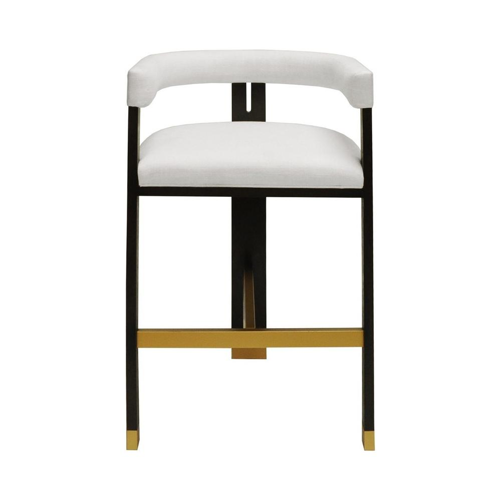 Perfectly Tailored In Crisp White Linen Upholstery, the Barrel Back Connery Barstool Exudes Mid Century Mod Style and Attitude. Its Durable Tri-leg, Solid Oak Frame With Rich Espresso Finish Forms A Highly Sought-after Silhouette That's Perfect for All Occasions.